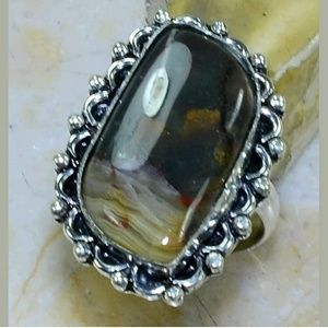 Lace Agate ~ Handcrafted 925SS Ring 7